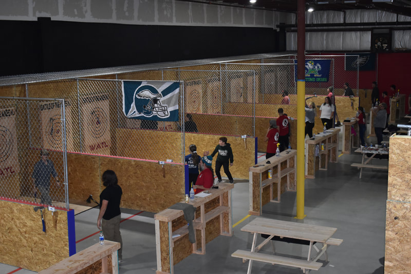 Battle of the Axes NJ  Family fun night Axe throwing in Williamstown